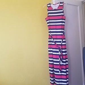 Banana Republic Red White & Blue Maxi Dress